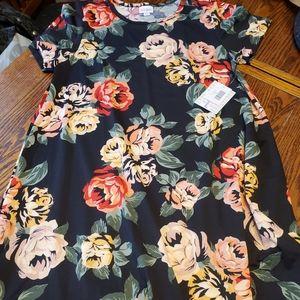NWT lularoe black  rose large carly